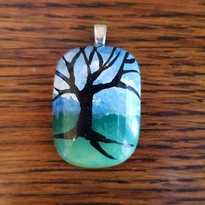 Jewelry - FINAL PRICE Hand-Painted Tree Pendant